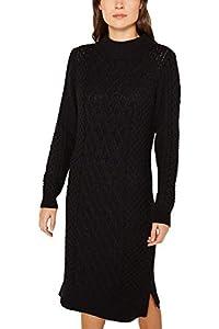 ESPRIT Damen 119EE1E003 Kleid, Schwarz (Black 001), Medium (Herstellergröße: M)