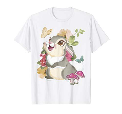 Disney Bambi Thumper Vintage Floral Portrait T-Shirt