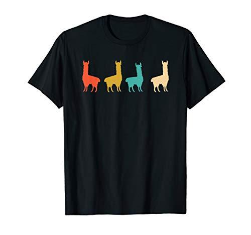 Alpaka Lama 70er 80er 90er Shirt Cool Geschenk Retro Vintage