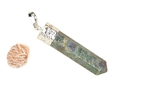 Blessfull Healing Reiki Spiritueller Glaube Heilung Edelstein Energie 6 Seitige Rubin Fuchsit Halskette Mit Anhänger Rose Desert Selenit
