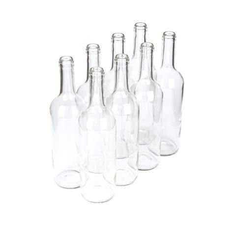 Beste Angebote 8 botellas de vino de 750 ml, vacías, color blanco