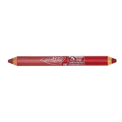 PuroBio Duo-Tag & Nacht Bleistift Lippenstift, Korallenrosa/Kirschrot, 4.2 g