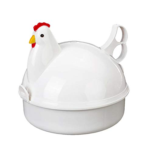 TUANTUAN 1 olla para horno de microondas, con forma de pollo, para cocinar huevos y 4 huevos, herramienta de cocina para cocina, regalos de madres