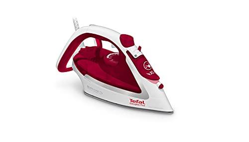 Tefal Easygliss Plus FV5717 - Ferro da stiro (2500 Watt, vapore continuo: 45 g/min, vapore vapore, capacità serbatoio dell'acqua: 270 ml) bianco/rosso