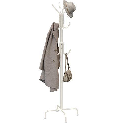 Simple Houseware Standing Coat and Hat Hanger Organizer Rack, White