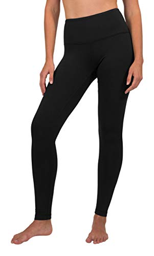 90 Degree By Reflex High Waist Fleece Lined Leggings - Yoga Pants - Black - Small
