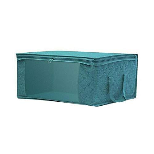 Scatola portaoggetti pieghevole Custodia per la raccolta di vestiti sporchi Cerniera non in tessuto a prova di umidità con scatola per trapunta Custodia per giocattoli in tessuto
