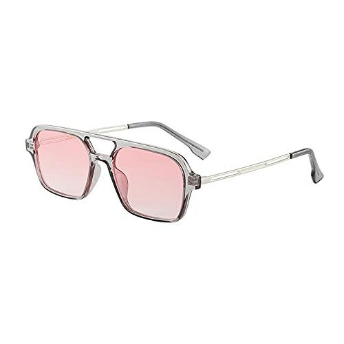 XDOUBAO Gafas de sol Gafas de sol Paisajismo Personalidad Gafas de sol Sombrilla-Color foto_Caja de ceniza de plata en polvo