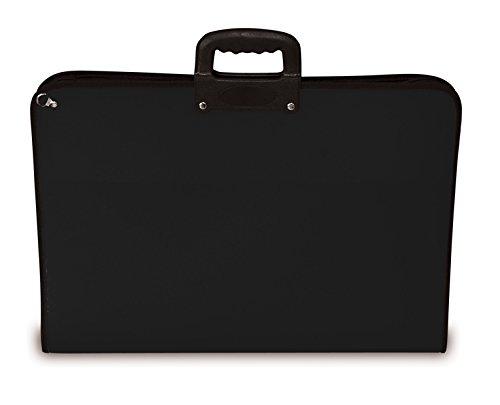 Portafolios para almacenar y transportar arte y pinturas libre de ácidos tamaños A1 A2 A3 azul rosa naranja lima negro., negro, A2