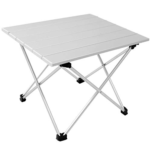 Aluminium Klapptisch 'Kamperland' Campingtisch 40x34cm H32cm Gartentisch Beistelltisch Falttisch Picknicktisch Alutisch faltbar
