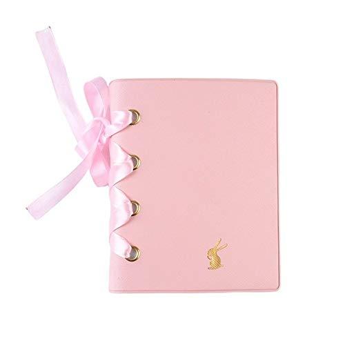 Cute Rabbit 64 bolsillos 3 pulgadas Álbum de fotos Almacenamiento de imágenes Mini marco de caja de álbum de recortes instantáneo para niños, Rosa