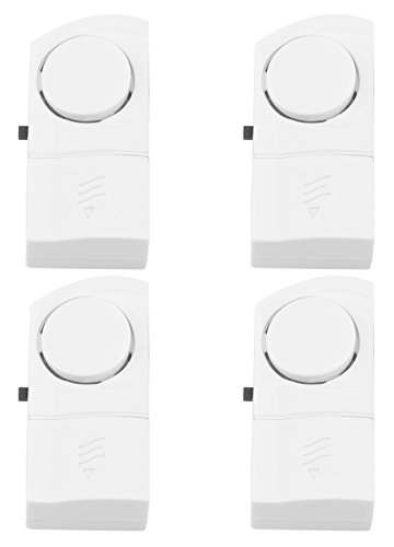 Olympia TF 400 Öffnungsmelder (für Türen und Fenster, 90 dB Sirene, Kabellos, Batteriebetriebener Türkontakt und Fensterkontakt mit Alarm-Funktion)