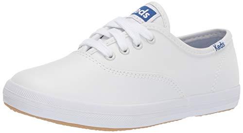 Keds unisex child Original Champion Cvo Sneaker, White Leather, 4 Wide Big Kid US