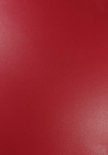 10 x Perlmutt-Dunkel-Rot 120g Papier DIN A4 210x297mm Majestic Emporer Red doppelseitig schimmernd Perlglanz Pearl-Papier metallic glänzend Bastel-Karton für Inkjet und Laser Drucker