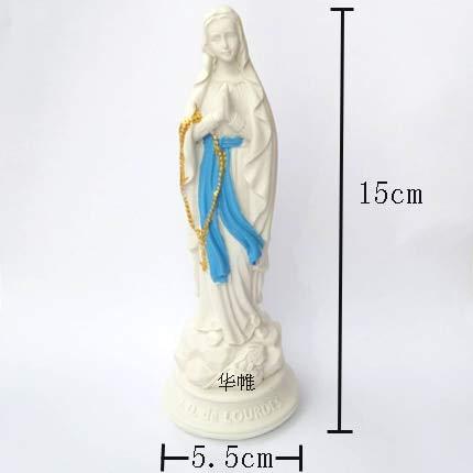ANH19 Estatua para decoración - Estatua de Virgen María/Mini Cute Ángel Escultura Figura Diosa Ornamento/Jesús Estatua Decoración del Hogar Artesanías/Decoración Escultura de Resina