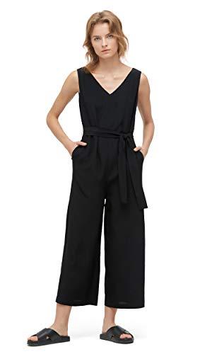 LilySilk Dames 100 Zijde Jumpsuit Tanktop en Chique Brede Beenbroek Sexy V-hals