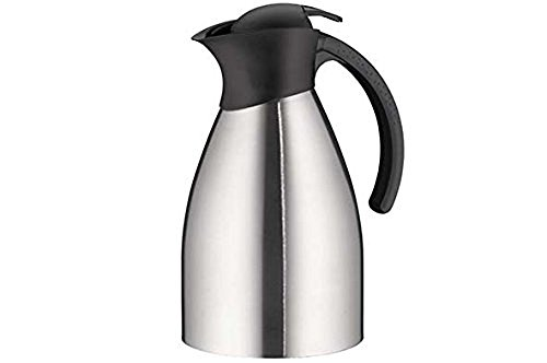 alfi BonoTT, Thermoskanne Edelstahl mattiert 1,5l, mit TopTherm Edelstahleinsatz,0787.000.150, Isolierkanne hält 12 Stunden heiß, ideal als Kaffeekanne oder Teekanne, Kanne für 10 Tassen