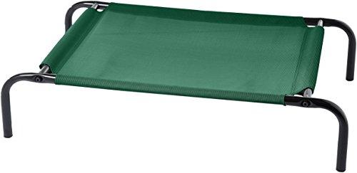 AmazonBasics - Brandina sopraelevata per animali, tessuto rinfrescante, S, Verde