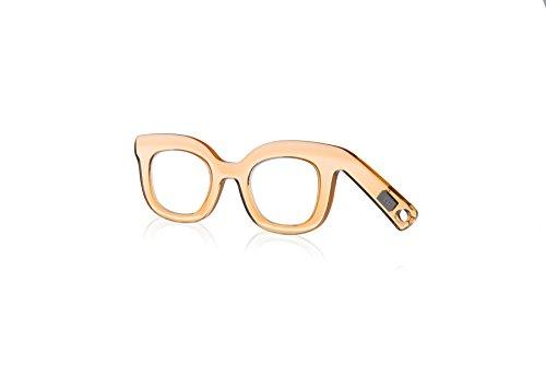 Handbrille Helgoland, Neuheit, Lesehilfe für modebewusste Frauen, Farbe Honey Gold - 1.5 dpt