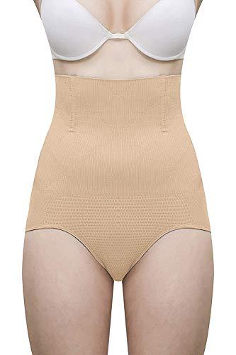 SQIN Women's Grip Wire No Rolling Down Tummy Tucker Shapewear (Beige, Fits Upto 34 to 38 Waist Size)