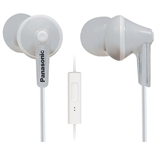 Panasonic RP-TCM125E-W In-Ear Kopfhörer (Mikrofon, Controller, 10-24.000 Hz, 1,2 m Kabel) weiß