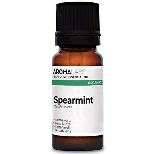 Aroma Labs Menta Verde Bio - 10Ml - Olio Essenziale Bio E Naturale Al 100% - Qualità Verificata Mediante Cromatografia - Aroma Labs - 10 ml