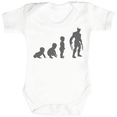 Baby Evolution to A Wolveine Body bébé - Gilet bébé - Body bébé Ensemble-Cadeau - Naissance Blanc