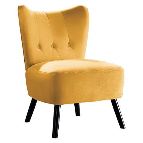 Homelegance Imani Velvet Accent Chair, Yellow