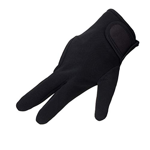 Lurrose Guante de dedo resistente al calor Guantes de estilo térmico Salon Aislamiento 3 Dedos Guante (Negro)
