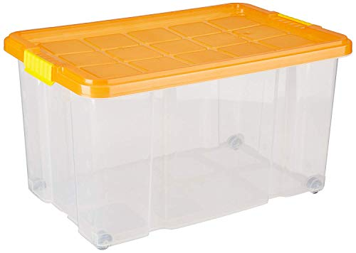 Unimet 366100 Eurobox mit Deckel, farblich sortiert, 60 X 40 X 33 cm