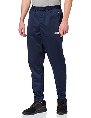 uhlsport Match Classic Pantalon Homme, Bleu Marine 14/Blanc, FR : L (Taille Fabricant : L)