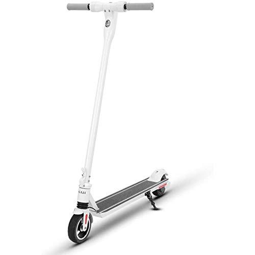 LL-SUNGIRL Scooter eléctrico Plegable, aleación de Aluminio IP56 Impermeable, diseño de absorción de Golpes Batería de Gran Capacidad, para Transporte, Entretenimiento