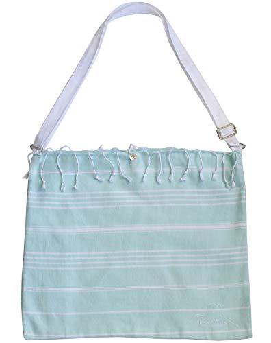 Bolsa de Playa Grande con Bandolera para Mujer Hombre (Aqua Marine)