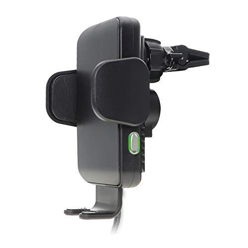 4smarts VoltBeam Touch 2 10W Fast Wireless Charger Auto Handyhalterung [Lüftung & Saugnapf] KFZ Ladegerät Qi Induktion Schnellladung für iPhone Samsung Huawei [Breite von 58 bis 92mm] - Schwarz