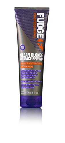 Fudge Professional Clean Blonde Damage Rewind Violet-Toning Anti-Gelbstich Shampoo, 250 ml