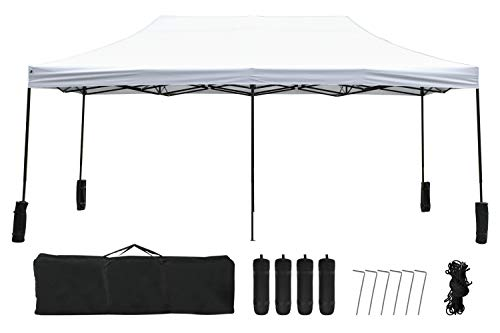 FDW Pop Up Canopy 10x20 pop up Canopy Tent Folding Protable Ez up Canopy Party Tent Sun Shade Wedding Instant Better Air Circulation Outdoor Gazebo with Backpack Bag