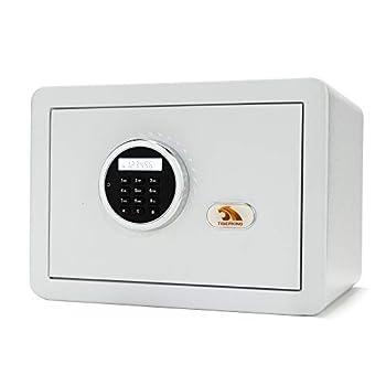 TIGERKING Safe,Safe Box,Security Safe,Digital Safe,Personal Safe,Lock Box Safe,Steel Safety Box for Home,Electronic Keypad Small Safe 1-Cubit Feet