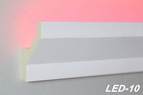 2 Meter | LED Profil | indirekte Beleuchtung | Stuck | lichtundurchlässig | stoßfest | Leiste | wetterbeständig | 75x45mm | LED-10