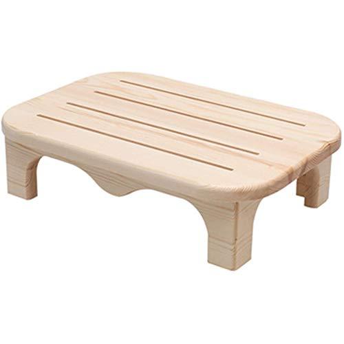 LXB Stegpall, massivt trä säng stegpall, lätt stegstegstege, hållbar lätt och halkskydd fotstöd rakpall, liten stolpall för barn, för hem, badrum, sängbord