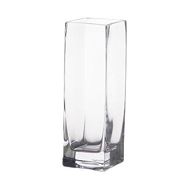 8  Glass Square Bud Vases