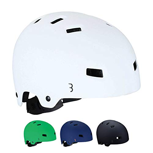 BBB Cycling Unisex-Youth Kids fietshelm Billy | ABS shell | Fietsen Skateboard Scooter | BHE-50 White S (49.5-54 cm), mat wit