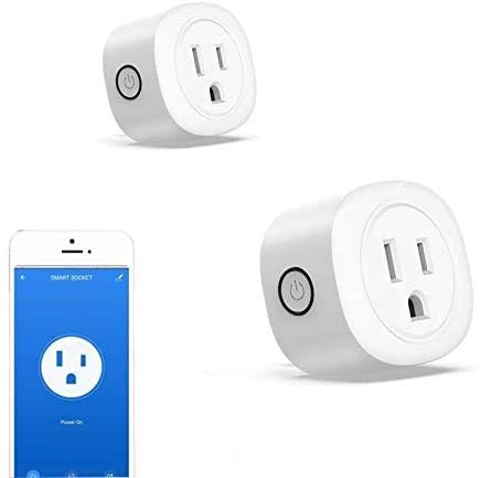 Smart Plug, 2 Pack Mini WiFi Smart Outlet Compatible with Alexa Echo Google Home TFTTT Voice Control...