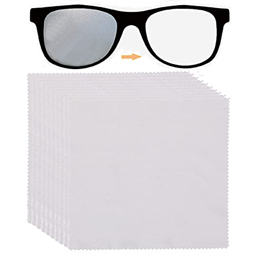 10 paños antiempañamiento, paño de gafas, toallitas antiempañamiento para la limpieza de gafas, pastillas, pantallas, lentes de cámara