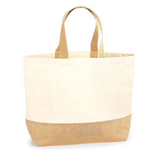 Westford Mill Borsa Tote XL In Tela Con Base In Iuta (Taglia unica) (Naturale)