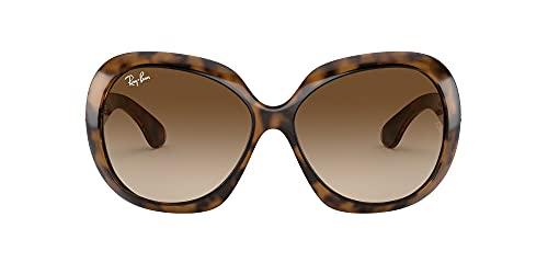 Ray-Ban Rb4098 Jackie Ohh Ii Óculos de sol feminino com borboleta, Havana/Dark Brown Gradient, 60 mm