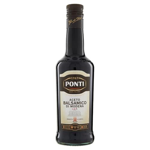 Ponti Aceto Balsamico di Modena g.g.A. 1 x 500 ml – typisch italienischer Balsamico Essig – Aceto Balsamico mit süß-saurer Geschmacksnote – edler Balsamessig