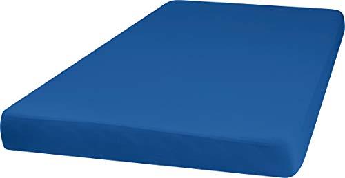 Playshoes 770320-7 Jersey-Spannbettlaken, Wasserdicht und Atmungsaktiv, 60 x 120 cm, blau, blau