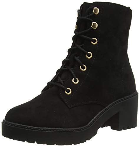 Dorothy Perkins W: Adela Lace Up Cleat Ankle Boots, Bottines Garçon, Noir 010, 36