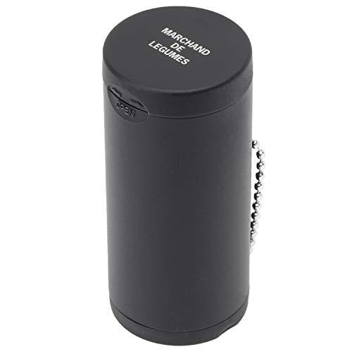 Dreams(ドリームズ) 携帯灰皿 ポケットアッシュトレイ ラバー ハニカム 6本収納 ブラック 直径3.5×高さ7.8cm MDL45117