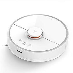 roborock Robot aspiradora de barrido con trapeador, navegación láser Wi-Fi, succión fuerte en todo el piso y control de aplicaciones 5200 mAh 2000 Pa Blanco